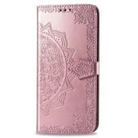 Bloemen Book Case Motorola Moto G8 Power Hoesje - Rose Gold