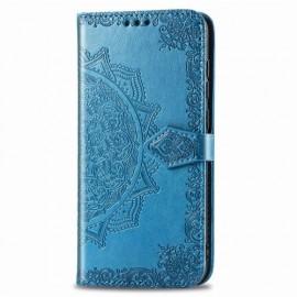 Bloemen Book Case Motorola Moto G8 Power Hoesje - Blauw