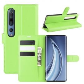 Book Case Xiaomi Mi 10 (Pro) Hoesje - Groen