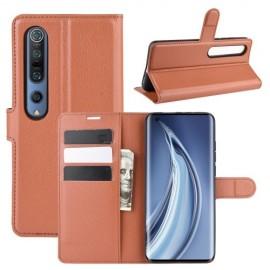 Book Case Xiaomi Mi 10 (Pro) Hoesje - Bruin