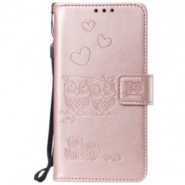 Uilen Book Case Huawei Y5 (2019) Hoesje - Rose Gold
