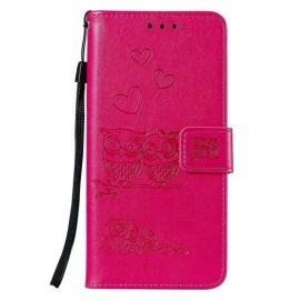 Uilen Book Case Huawei Y5 (2019) Hoesje - Roze