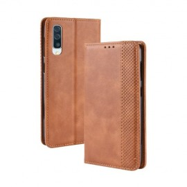 Vintage Book Case Samsung Galaxy A50 / A30s Hoesje - Bruin