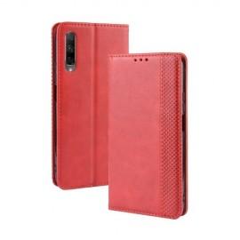 Vintage Book Case Huawei P Smart Pro Hoesje - Rood