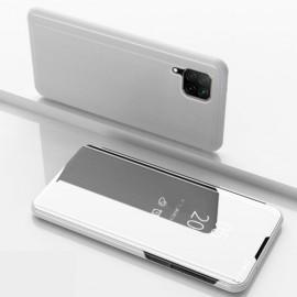Mirror View Case Huawei P40 Lite Hoesje - Zilver