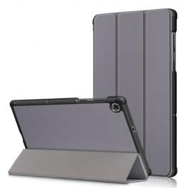 Tri-Fold Book Case Lenovo Tab M10 FHD Plus Hoesje - Grijs