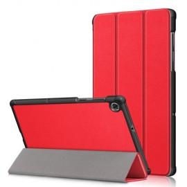 Tri-Fold Book Case Lenovo Tab M10 FHD Plus Hoesje - Rood