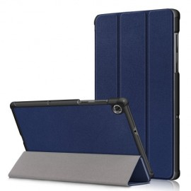 Tri-Fold Book Case Lenovo Tab M10 FHD Plus Hoesje - Donkerblauw