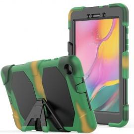 Heavy Duty Case Samsung Galaxy Tab A 8.0 (2019) Hoesje - Camouflage