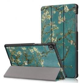 Tri-Fold Book Case Lenovo Tab M10 FHD Plus Hoesje - Bloesem