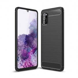 Armor Brushed TPU Samsung Galaxy A41 Hoesje - Zwart