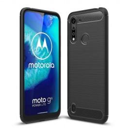Armor Brushed TPU Motorola Moto G8 Power Lite Hoesje - Zwart