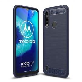 Armor Brushed TPU Motorola Moto G8 Power Lite Hoesje - Blauw