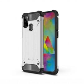Armor Hybrid Samsung Galaxy M21 Hoesje - Zilver