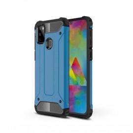 Armor Hybrid Samsung Galaxy M21 Hoesje - Lichtblauw
