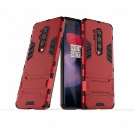Armor Kickstand OnePlus 8 Pro Hoesje - Rood
