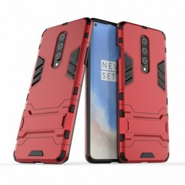 Armor Kickstand OnePlus 8 Hoesje - Rood