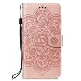 Bloemen Book Case Samsung Galaxy M21 Hoesje - Rose Gold