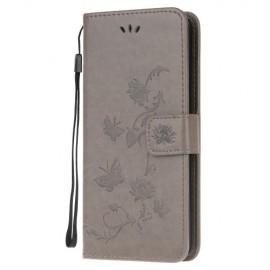Bloemen Book Case Samsung Galaxy A41 Hoesje - Grijs