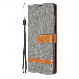 Denim Book Case Samsung Galaxy A41 Hoesje - Grijs