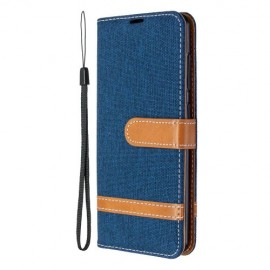 Denim Book Case Samsung Galaxy A41 Hoesje - Blauw
