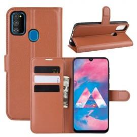 Book Case Samsung Galaxy M21 Hoesje - Bruin