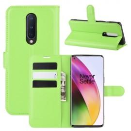 Book Case OnePlus 8 Hoesje - Groen