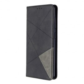 Geometric Book Case Samsung Galaxy A41 Hoesje - Zwart