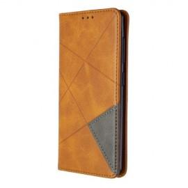 Geometric Book Case Samsung Galaxy A41 Hoesje - Bruin