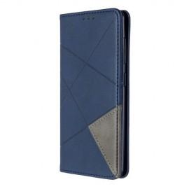 Geometric Book Case Samsung Galaxy A41 Hoesje - Blauw