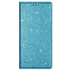 Book Case Glitter Samsung Galaxy A41 Hoesje - Blauw