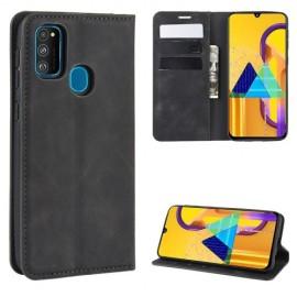 Premium Book Case Samsung Galaxy M21 Hoesje - Zwart