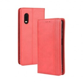 Vintage Book Case Samsung Galaxy Xcover Pro Hoesje - Rood