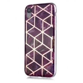 Marble Design TPU iPhone XR Hoesje - Violet