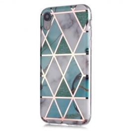 Marble Design TPU iPhone XR Hoesje - Mint