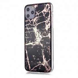 Marble Design TPU iPhone 11 Pro Max Hoesje - Black Gold