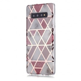 Marble Design TPU Samsung Galaxy S10 Plus Hoesje - Roze